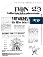 Flugblätter 2. Treffen der Aktion 23