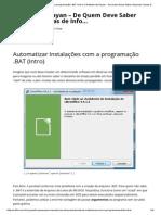 Automatizar Instalações Com a Programação BAT - Intro