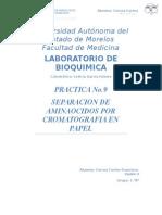Practica 8 Separacion de Aminoacidos Por Cromatografia Enpapel. Francisco Correa C.