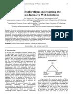 Semiotics Explorations on Designing the Information Intensive Web Interfaces