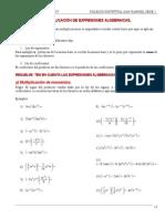 Álgebra 4 Ciclo - Multiplicación Algebraica