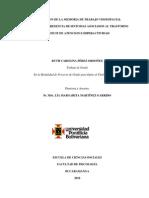 Pérez, R. (2010) Evaluación de La Memoria de Trabajo Visoespacial en Niños