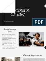 Criticisms of the BBC 1