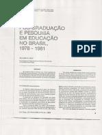 Pós-Graduação e Pesquisa em Educação no Brasil