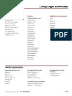 Passages, Language Summary 1