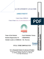 Financial Statement Analysis by Nawaz
