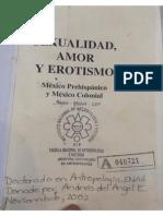 Sexualidad Amor y Erotismo en El México Prehispanico y Colonial