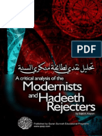 A Critical Analysis of the Modernists and Hadeeth Rejecters