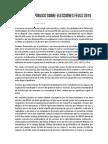 Comunicado Juventud Rebelde sobre Elecciones FEULS 2015