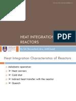 Heat Ingeration of Reactors