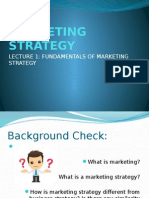 Marketing Strategy Lecture 1 Orientation