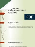 Manual de Administración de Personal
