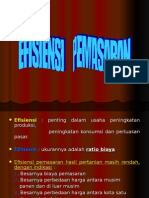 EFISIENSI PEMASARAN