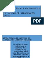 Norma Técnica de Auditoria