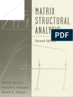 Matrix Structural Analysis Mcguire 2nd Ed Book
