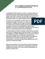 Conclusiones de Relacion E24rqntre Los Cambios Culturales de Fines Del Siglo y La Participacion Politica