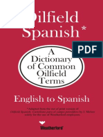 WATHERFORD Oilfield English-Spanish Dictionary