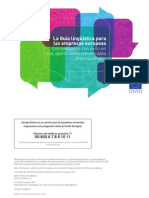 La Guía lingüística para empresas europeas