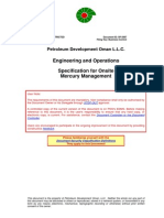 SP-2087 Specification for Onsite Mercury Management