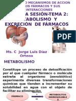 SESION 2 METABOLISMO Y EXCRESIÓN DE FARMACOS.pptx