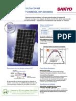 Caract Placa Solar
