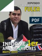 Informe 1er Año de Labores José Ramírez Aguilar