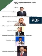 Berikut Susunan Kabinet Kerja Presiden Jokowi