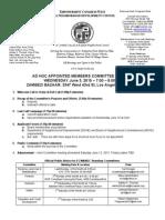 ECWANDC Ad Hoc Appointed Members Committee Agenda - June 3, 2015