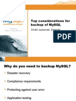 Top 5 Considerations While Setting Up Your MySQL Backup Presentation