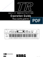 Manual do KORG TR (Inglês)