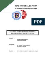 DERECHO PROCESAL CONSTITUCIONAL - ANALISIS SENTENCIA DEL TC.docx