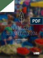 Informe Sobre Sostenibilidad Del BID 2014