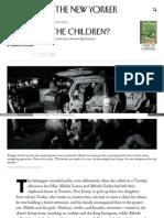 Www Newyorker Com Magazine 2015-04-27 Where Are the Children