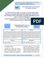 Triangulacion Analitica Para Validacion Instrumento