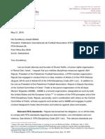 FIFA Letter Requesting Expulsion of Jibril Rajoub