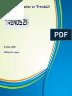 Werbehandfächer an Trends21