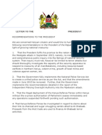 Letter to the President