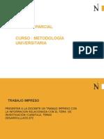 Metodología - Formato de Trabajo