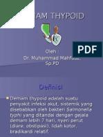 Demam Thypoid-dr Mahfudz