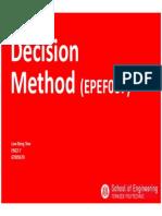EPEF007 Decision Methods Topic1