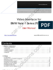BMW F20 Video Interface User Manual