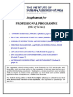 Professional Programme Supplememnt