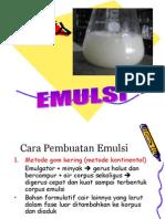 pembuatan emulsi