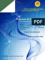 Procesos Industriales de Plásticos Térmicos, Compuestos y Termofraguantes, y Materiales Cerámicos