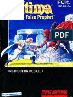 Ultima the False Prophet Manual SNES