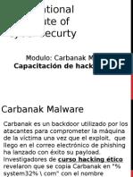 Modulo Carbanak Malware Capacitacion de Hacking Etico