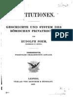 Rudolf Sohm, Institutionen