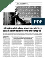 150502 La Verdad CG- Lidington Visita Hoy a Méndez de Vigo Para Hablar Del Referéndum Europeo p.8