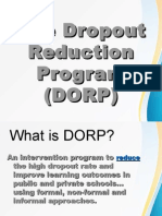 Drop Out Reduction Program