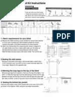 Roman BLind Kit Making Instructions